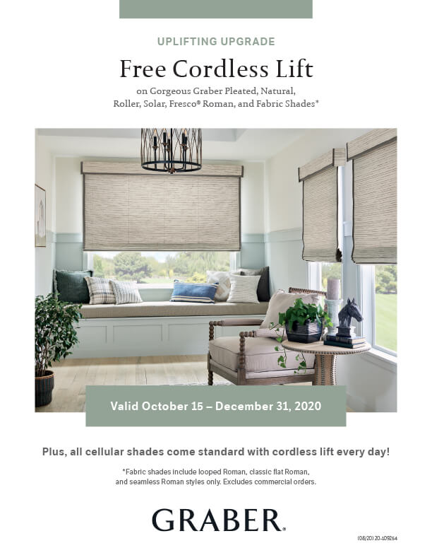 Graber Free Cordless Lift Promotion